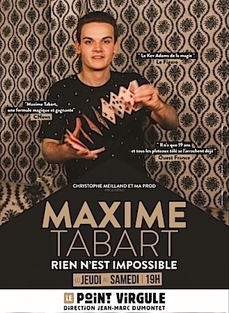 """MAXIME TABART """"Rien n'est impossible"""""""